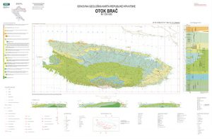 Osnovna geološka karta RH 1:50.000 otok Brač