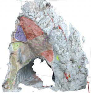 Odron na portalu južne cijevi tunela u kanjonu Celevecke rijeke blizu Demir Kapije (izrađeno sustavom Shapemetrix3D)