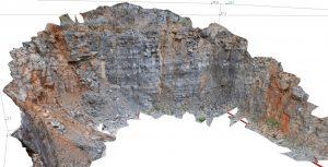 3D model kamenoloma Apatiša na Sjevernom Velebitu (izrađeno sustavom ShapeMetrix3D)
