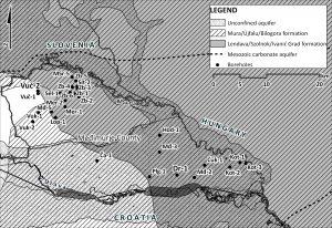 Pretpostavljeni prekogranični geotermalni vodonosnici u Međimurskoj županiji