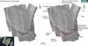 Interpretacija mozaika izrađenog panoramskim dubinomjerom za potrebe arheoloških istraživanja podmorja Kornata.