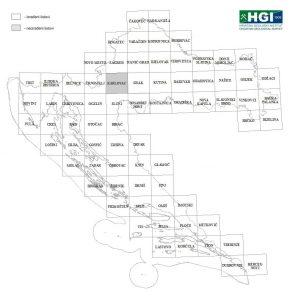 Osnovna geološka karta 1:100.000 shema listova