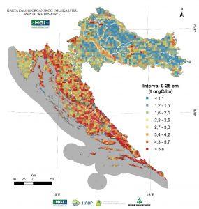 Karta zaliha organskog ugljika u tlu