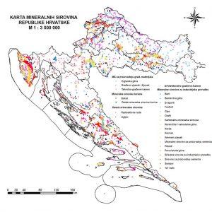 Karta mineralnih sirovina RH
