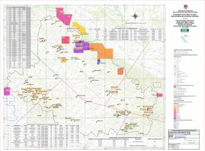 Karta mineralnih sirovina Bjelovarsko-bilogorske županije