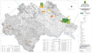 Karta mineralnih sirovina Sisačko-moslovačke županije