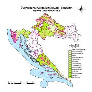 Županijske karte mineralnih sirovina RH