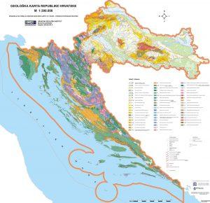 Geološka karta RH 1:300.000