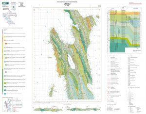 Osnovna geološka karta RH 1:50.000 Cres 2