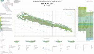Osnovna geološka karta RH 1:50.000 Mljet