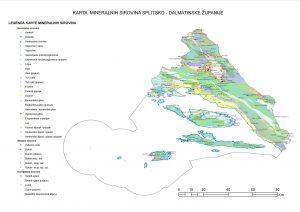 Karta mineralnih sirovina Splitsko-dalmatinske županije