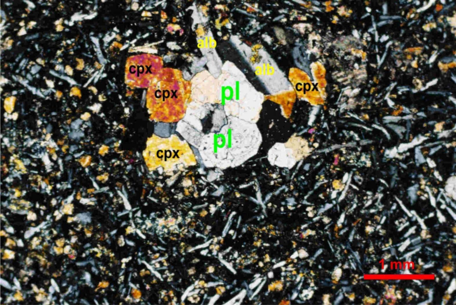 glomeroporfirni bazalt Medvednica