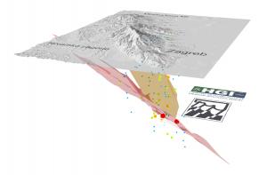 Potres u Zagrebu 3D model