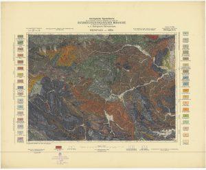 Arhivke karte Austro-Ugarske monarhije list Bischoflack und Idria