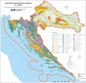 Geološka karta Republike Hrvatske M 1:300.000