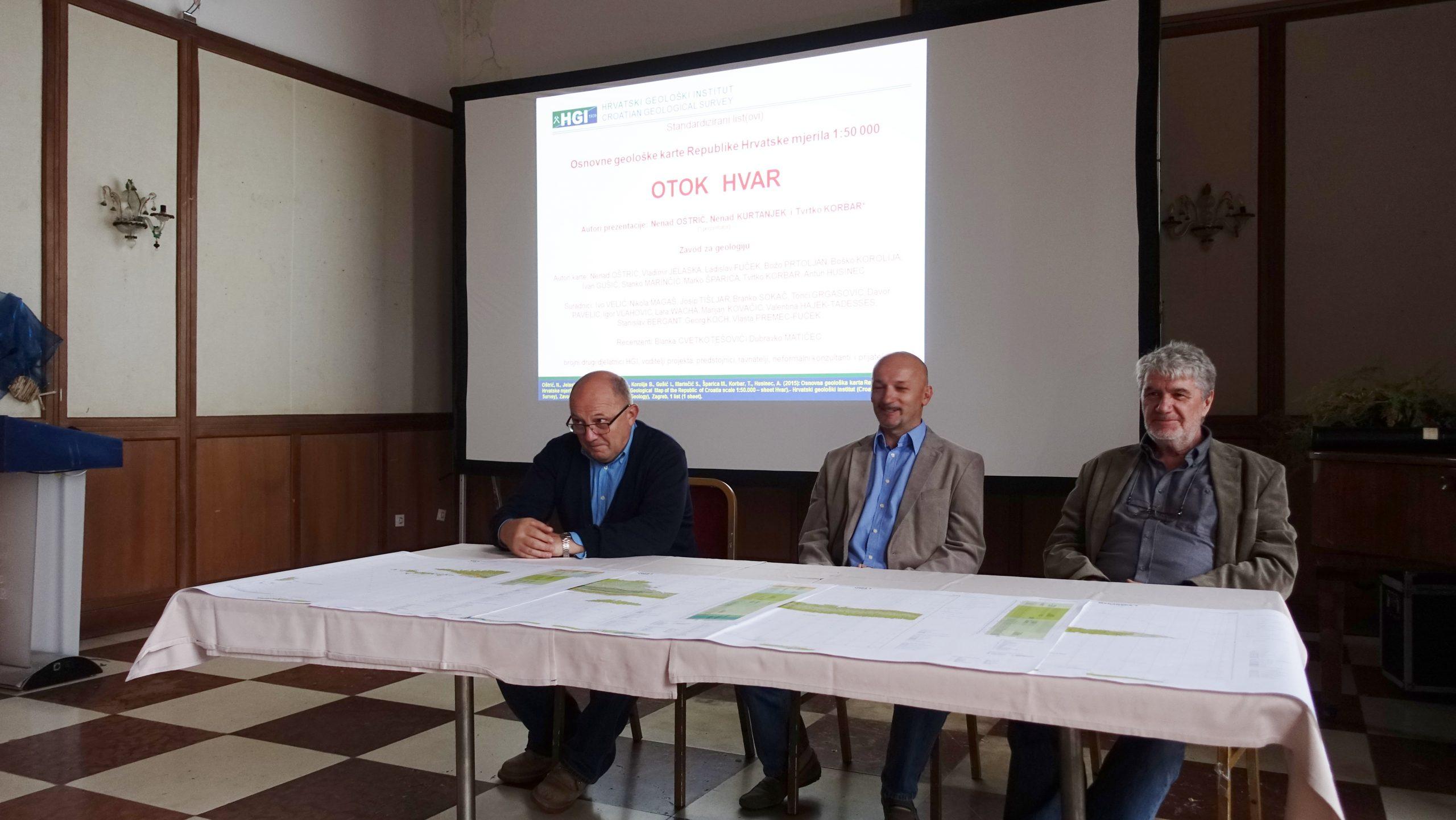 Prezentacija nove Osnovne geološke karte Republike Hrvatske u Hvaru