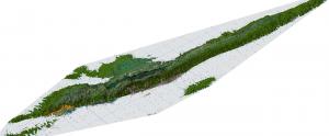 3D prikaz geološke karte otoka Hvara.