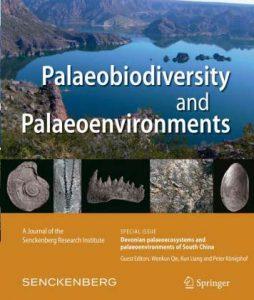 paleobiodiversity and paleoenvironments cover