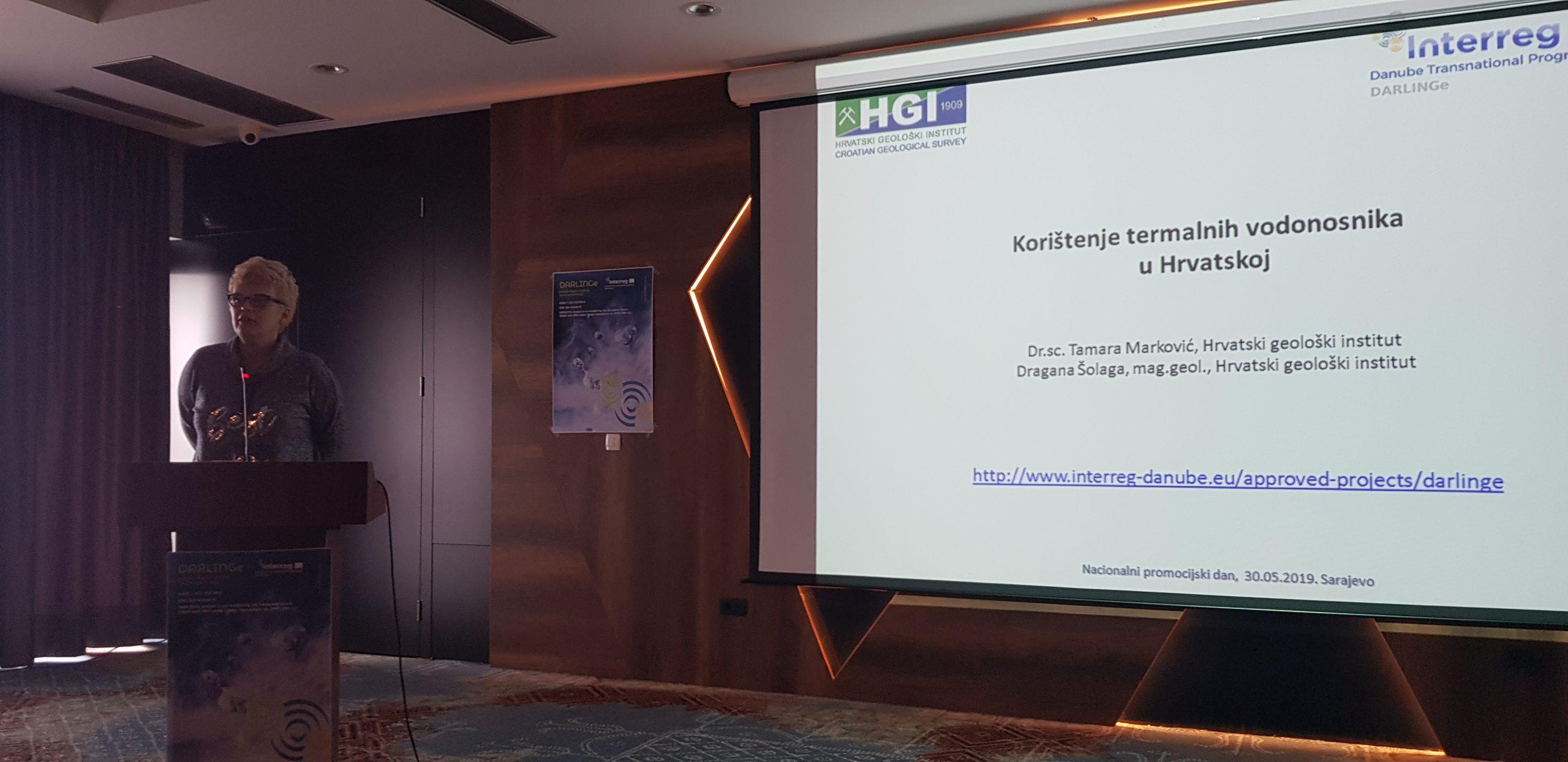 Dr.sc. Tamara Markovic tijekom predavanja