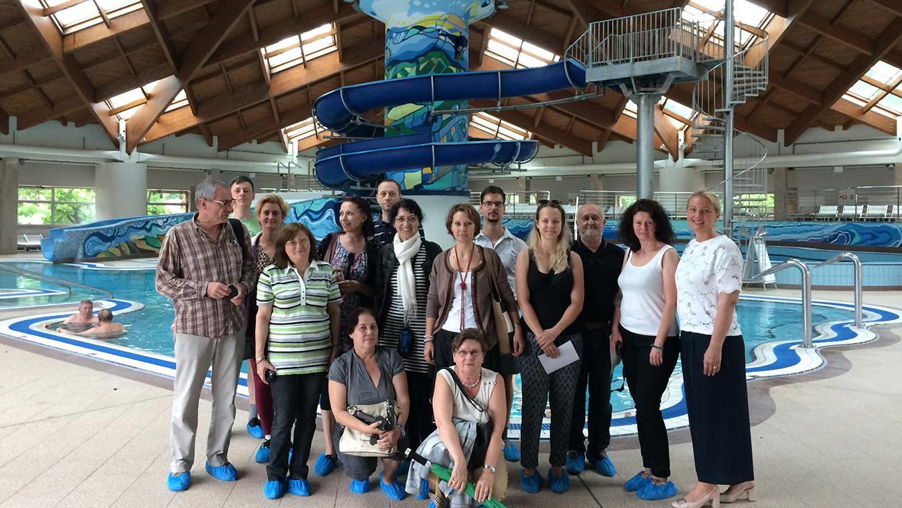 Partneri i dionici u posjeti Aquae Vivae