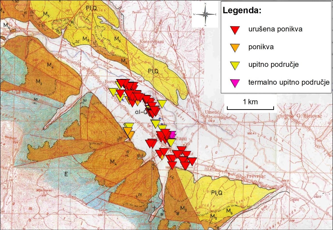 Mohorovičićev diskontinuitet: 1. granica sedimenta, 2. Mohorovičićev diskontinuitet