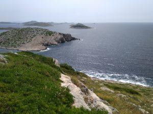 Pogled s otoka Klobučar na istok